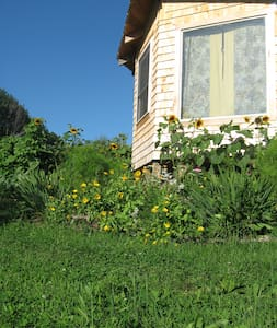 ManyHandsFarm Hostel Private SunRise Cabin - Thorndike - Cabana