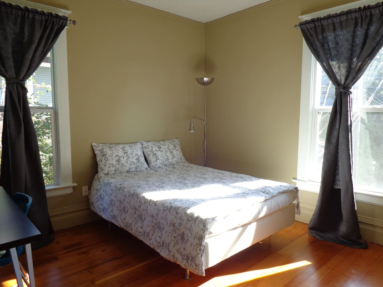 This room is $58 a night.  Photo was taken August 22, 2013.  Has a closet and desk.