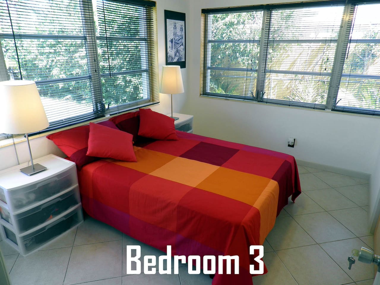 This is the master bedroom: