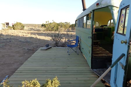 Stay in this 1948 Schoolbus near Madrid NM - Karavan