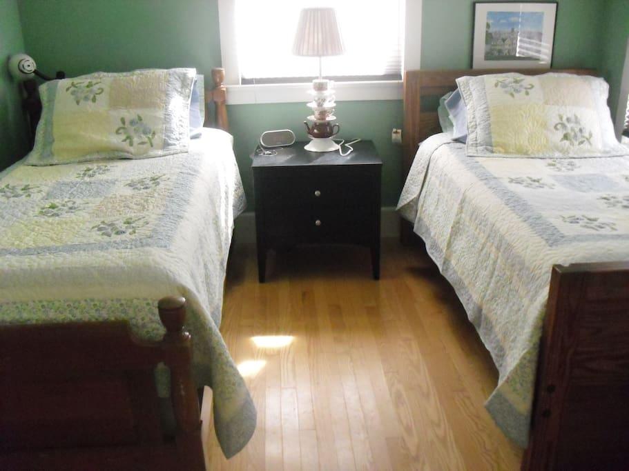Matching single beds