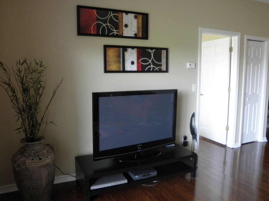 Large 50 inch flat screen TV in the living room