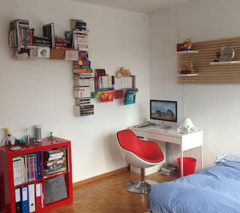 Attic studio with terrace - Geneva - Apartmen