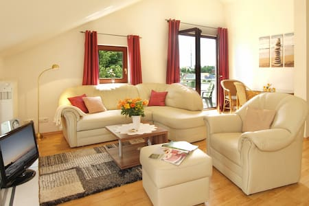 Helle 2-Zimmerwohnung mit Balkon - Heringsdorf - Apartemen