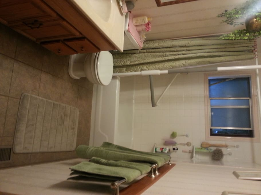 Handicapped accessible shared bathroom