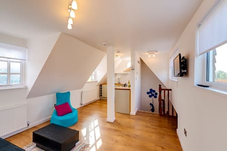 Light, modern & very comfortable double bed flat in the centre of the Rye with great views. Perfect for a couple. Open plan living room, single sofabed & fully equipped kitchen. Private parking space. Free Wi-Fi. Cot & highchair available on request.