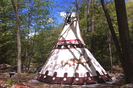 Sioux Tipi on the Waterfall - Tepee