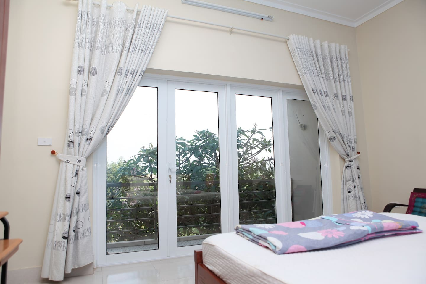 Comfortable clean room with nice views