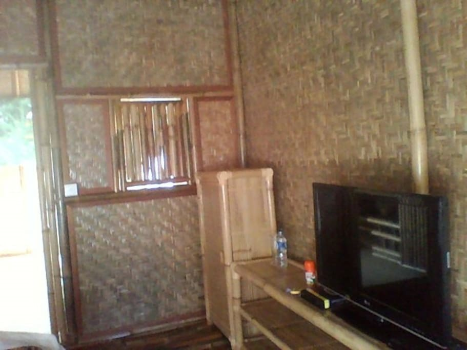 TV, Air conditioner,cupboard