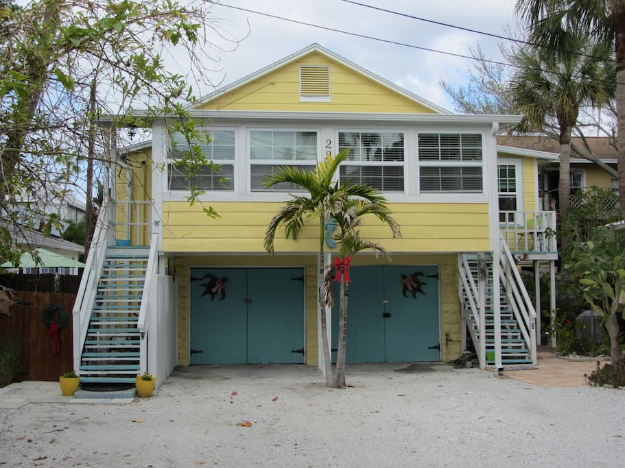 The beach house sits above an unused garage and is a perfect place to get away and relax!