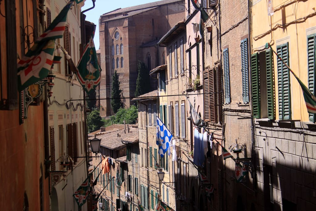 The picturesque Santa Caterina street