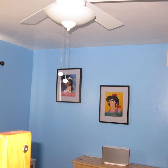 Two of four lithographs of Disney characters...