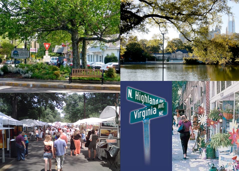 Welcome to Atlanta's favorite living and commercial district, Virginia-Highland, founded in the early 20th century as a streetcar suburb.