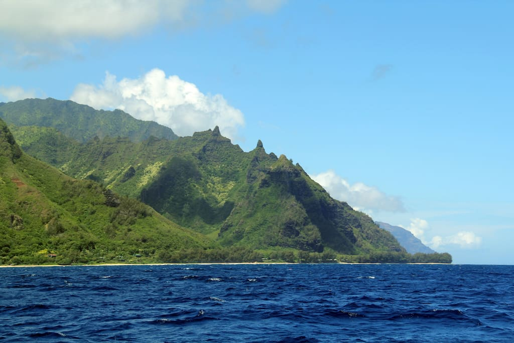 We're located just minutes from the Na Pali coast