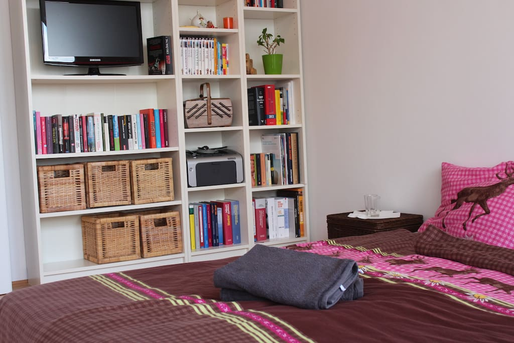 double-bed, towels, HD TV