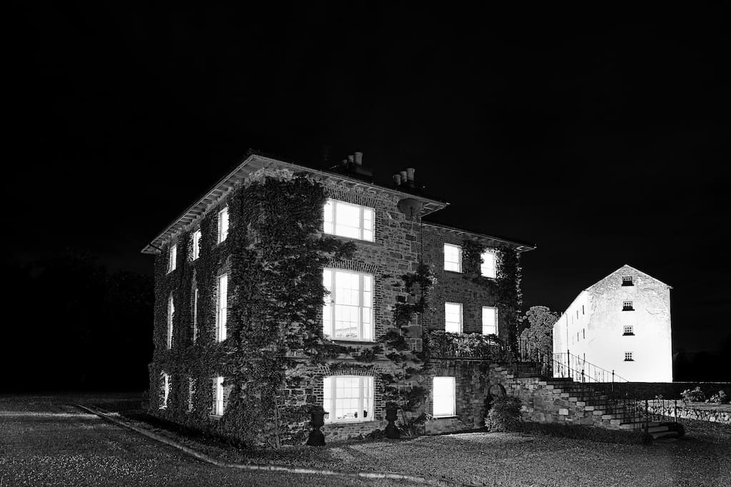 Night time at Newtown House and Mills