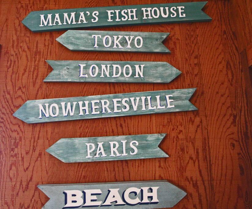 """Mamas FishHouse""Romantic!Fireplace"