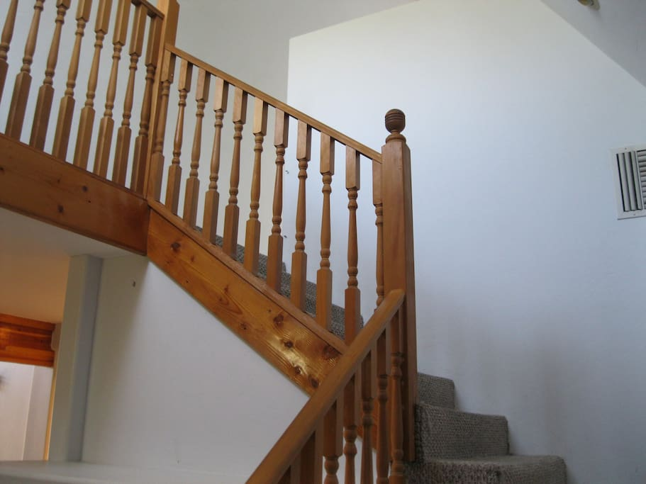stairs to bedroom/office upstairs