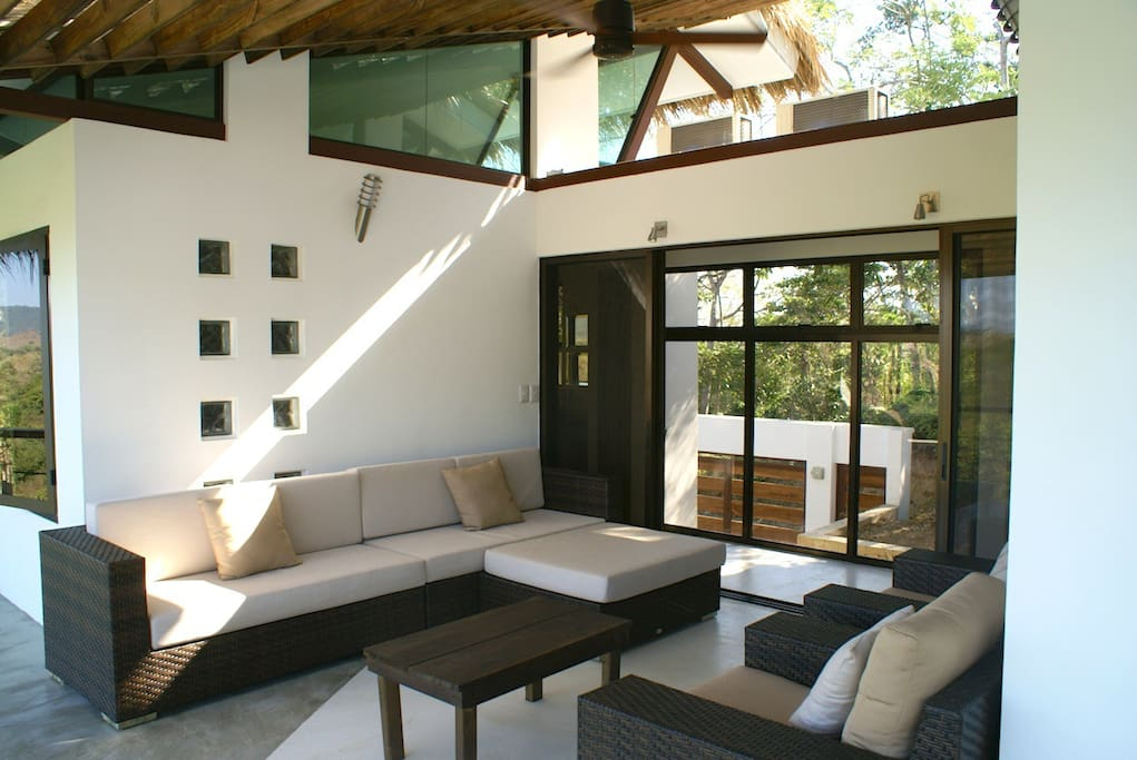 Outdoor terrace and chill out space.