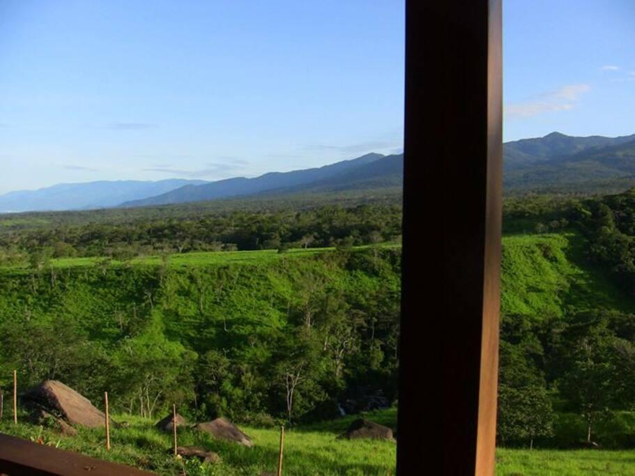 Talamanca cabin views.