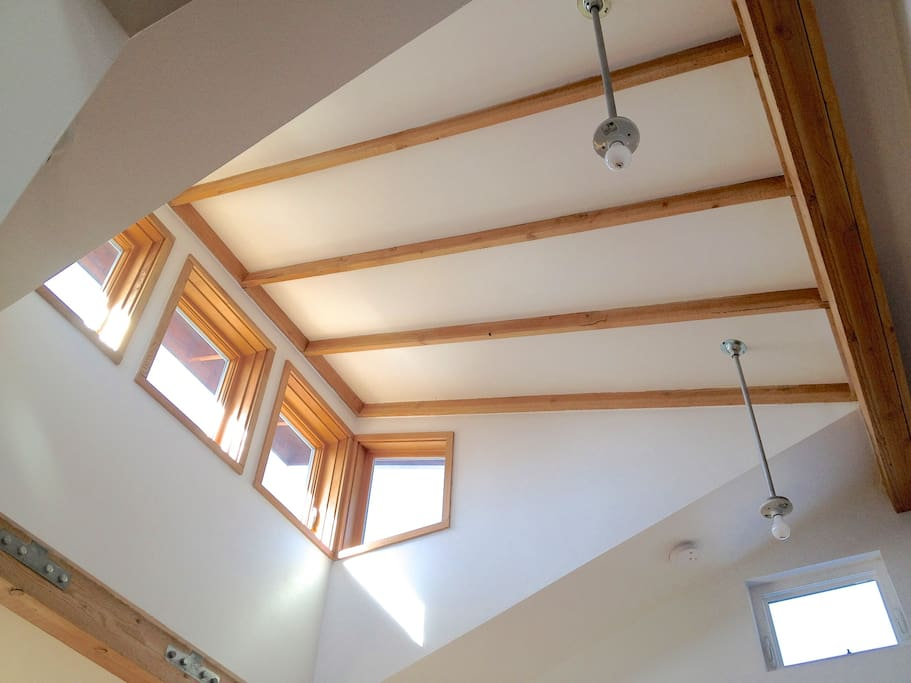 Living room dormer for visual expansion & daylighting. Great for morning/evening meditation.