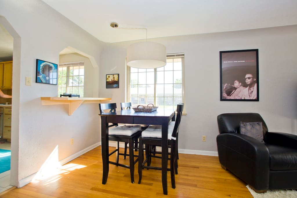 Super sunny and comfortable living area-Open to dining and kitchen!