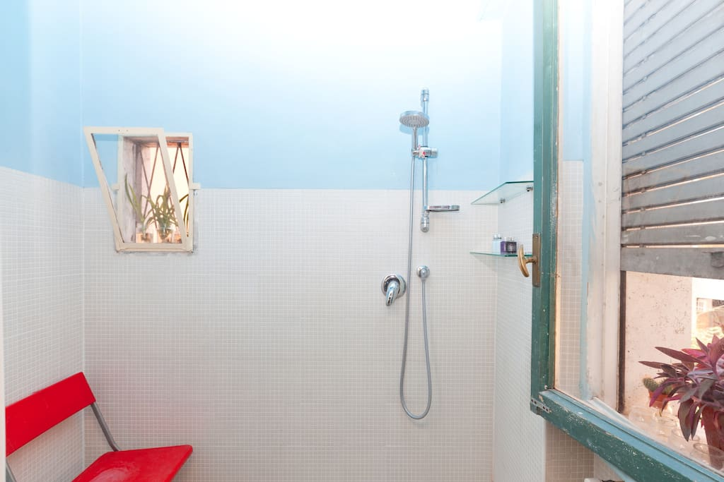 Your bathroom (completely repainted blue by professional painters on August 5, 2014)