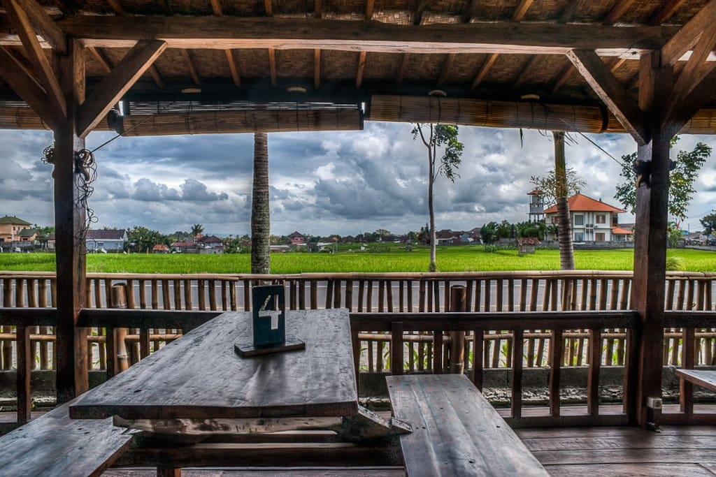 simple Balinese view ricefield