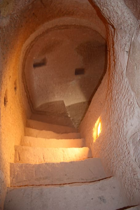 Handcarved Stone Stairs of Uvercinka Museum House