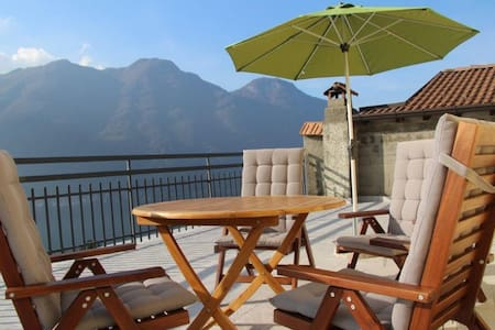 Casa La Perla on lake Como with spectacular views - Nesso - Lejlighed