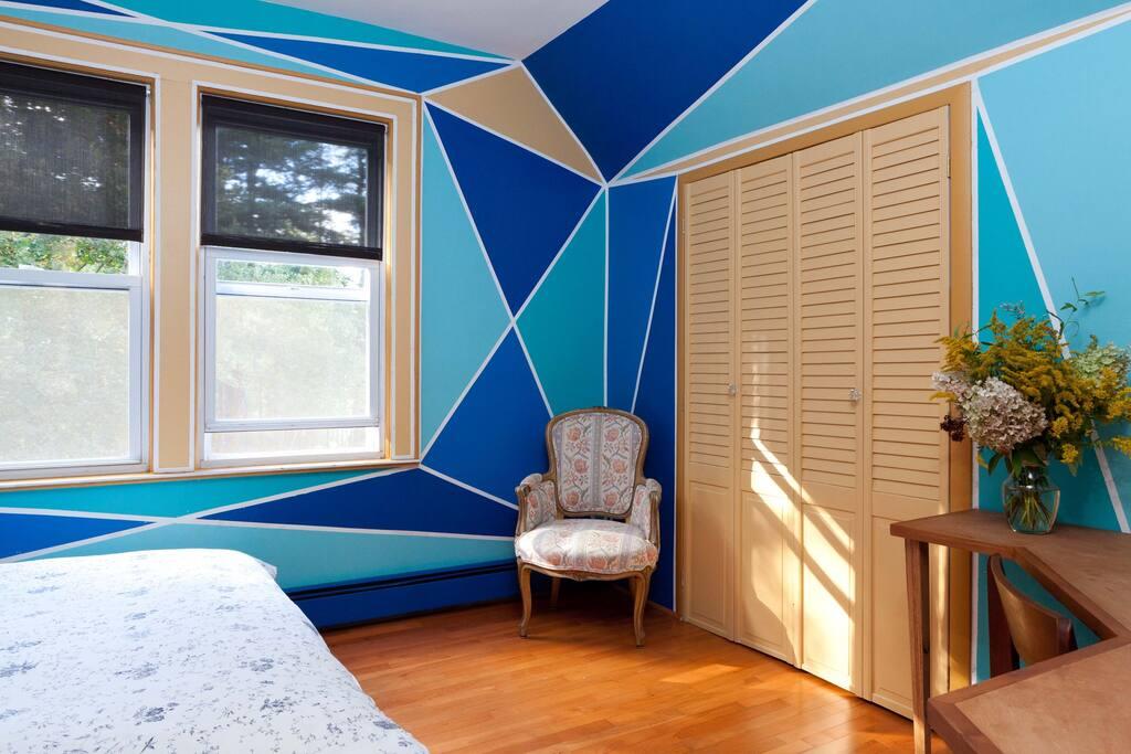 House on Catskills Farm-Blue Room