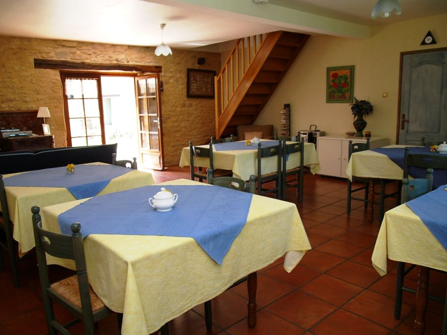 The Dining room where a generous breakfast is served