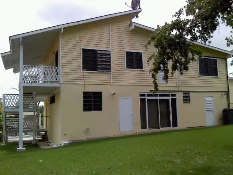 View back of the house