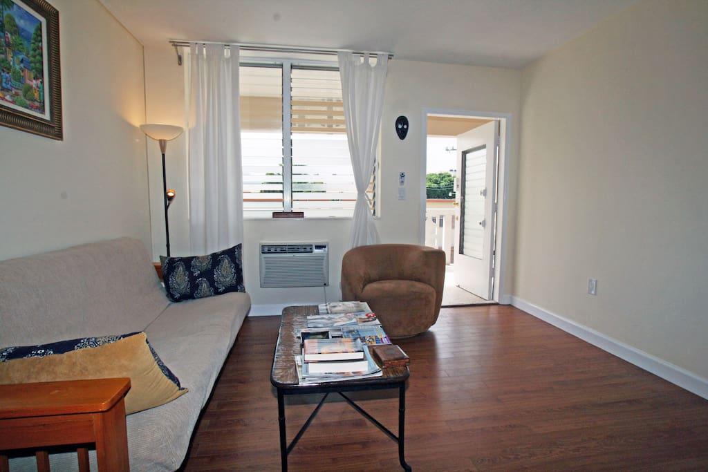 Bright living room.