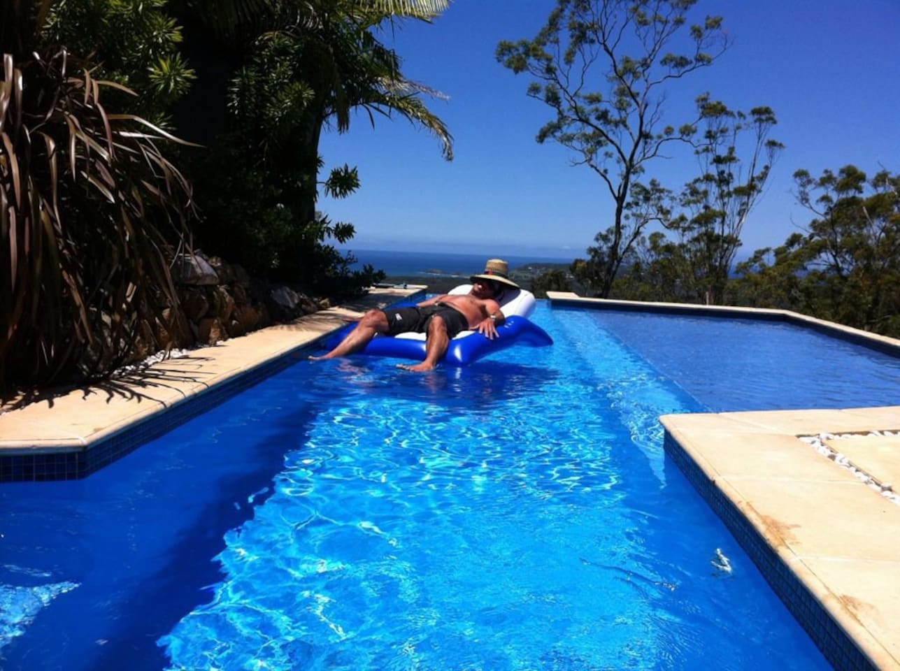 Private Lap Pool with Ocean View
