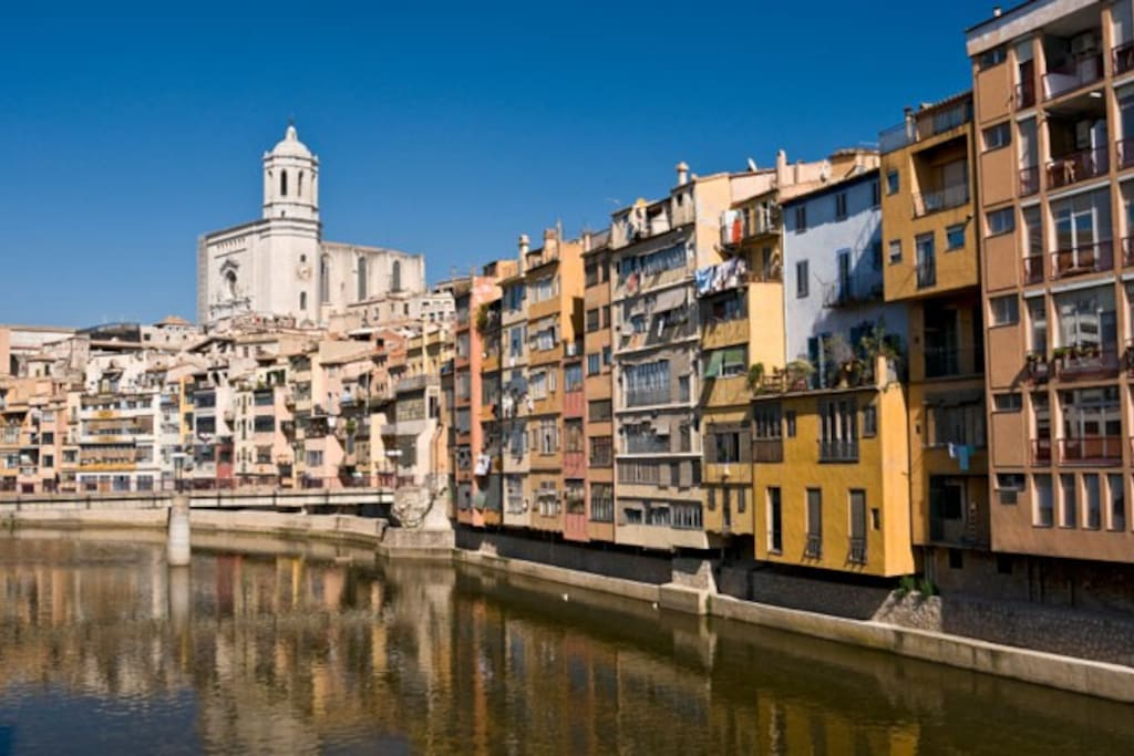 View of Girona Old Quarter
