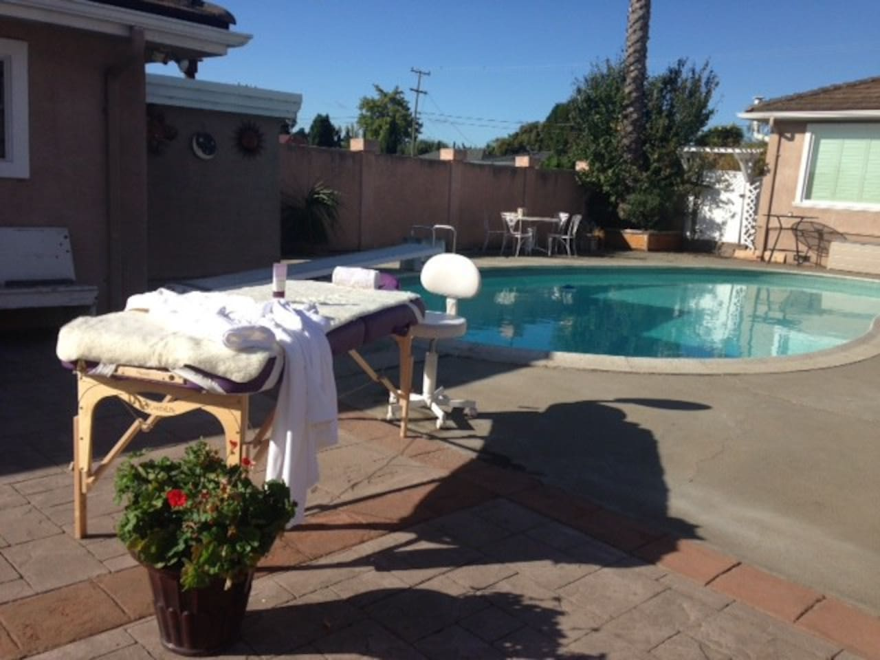 I run one of Napa's finest day spas...or I can do a facial or massage poolside here at the guest house for you!