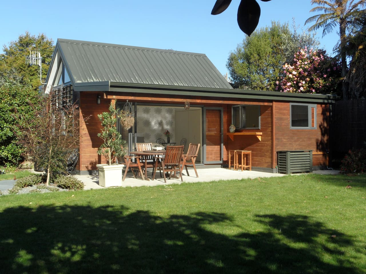 The Summer House bathed in sun!