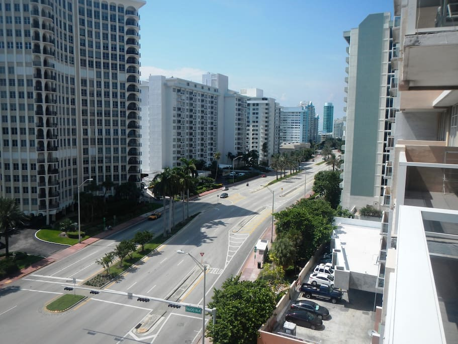 North View of famous Collins Avenue