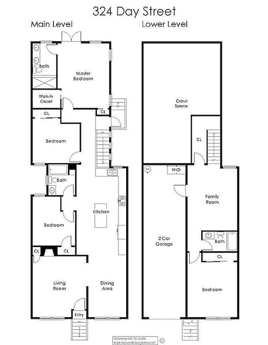 Spacious floor plan has 4-BD -- two are bedrooms, one is a nursery, and one is an office.  Both the nursery and the office can be converted to additional bedrooms.
