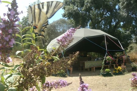 Off-grid riverside geodome campsite - Barril de Alva - Andre