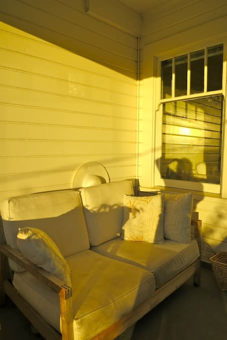 Sunny porch couch