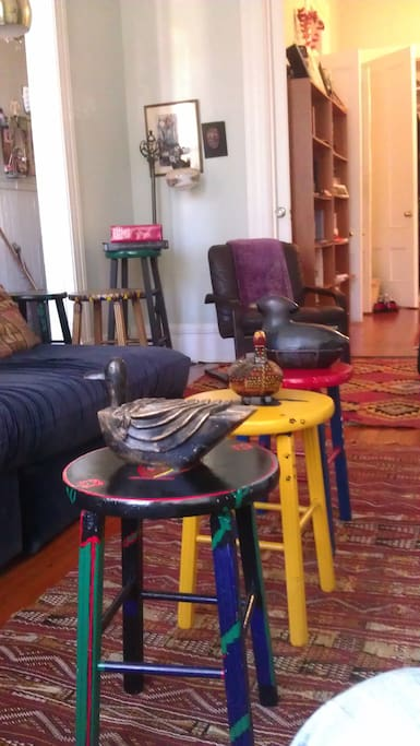 my ducks in a row in living room.