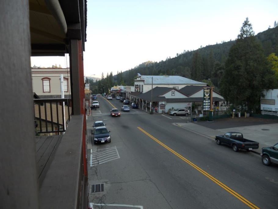 Your view of historic downtown Mariposa from your private balcony.
