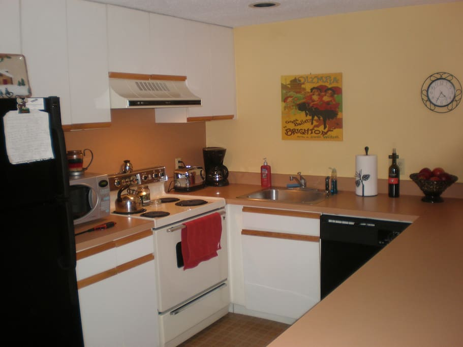 Fully Equipped Kitchen Has All The Comforts Of Home !