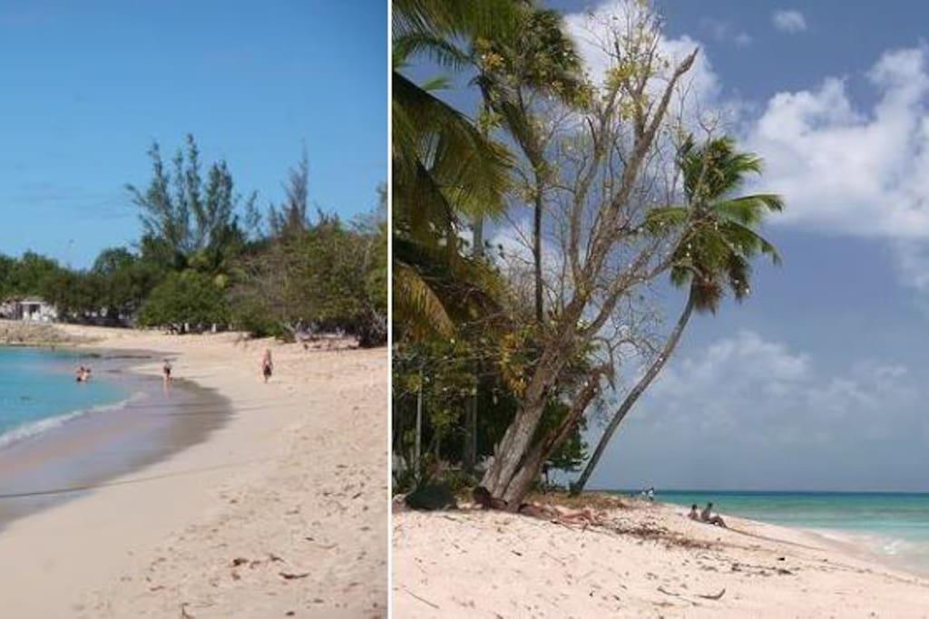 Plage du souffleur, l'une des plus belles plage de la Guadeloupe à 3min à pied