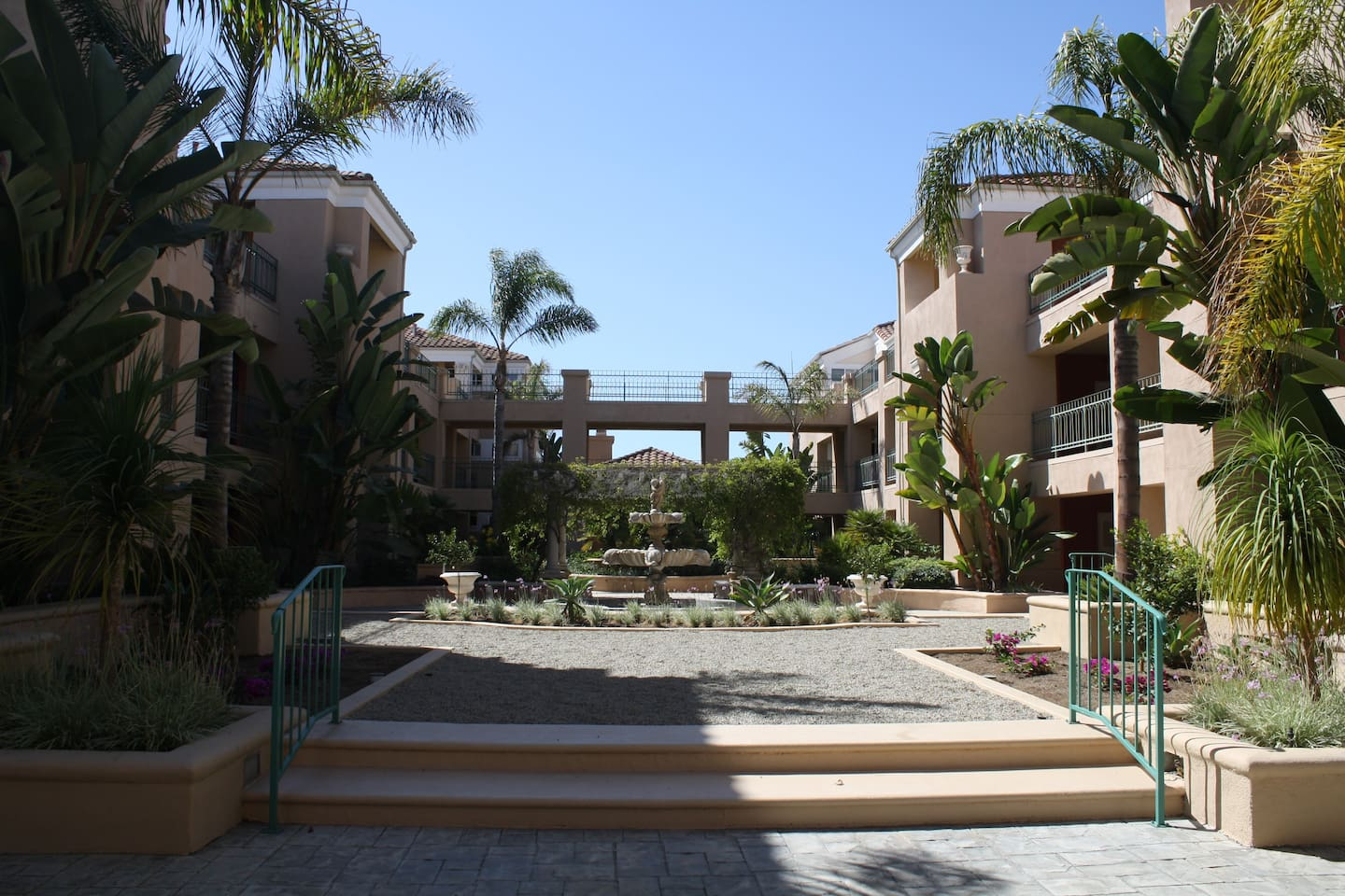 Beautiful courtyard of condo complex, safe, quiet and relaxing
