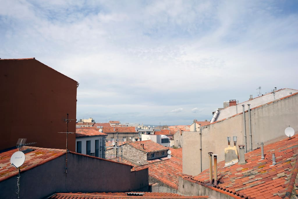 Une magnifique vue sur les toits sétois