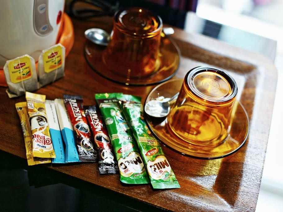 complimentary tea and coffee in your room.
