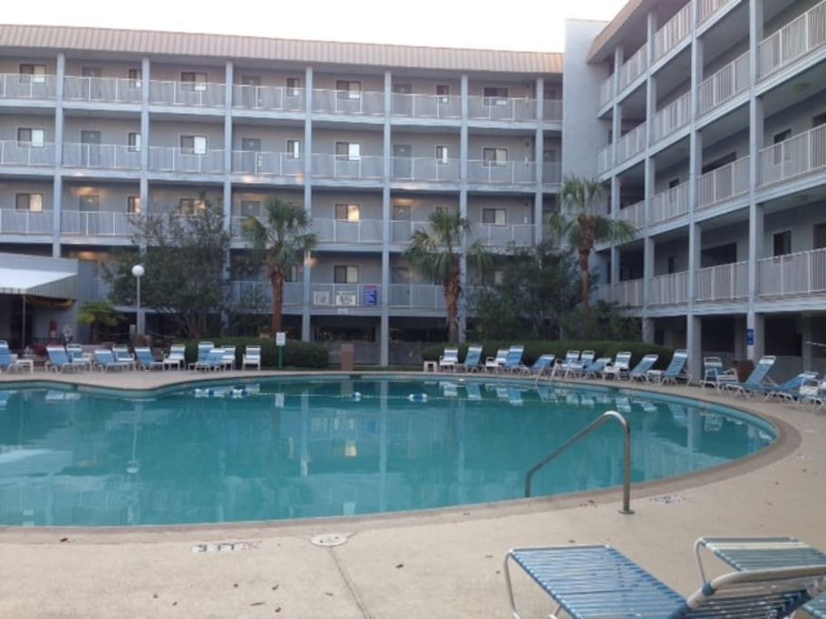 One of the resorts outdoor pools complete with bar/restaurant and shop